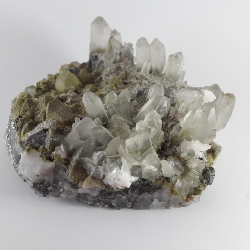 №415 Планински кристал, калцит и сфалерит